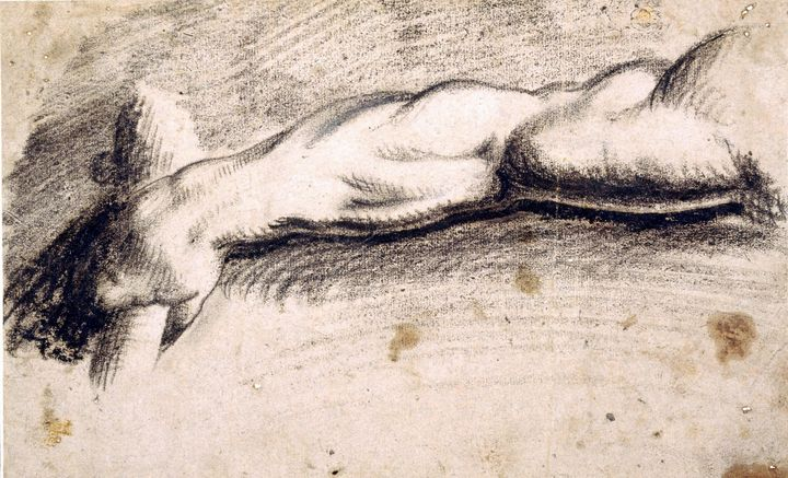 Jacopo Bassano~Drawing of a Male Arm - Classical art