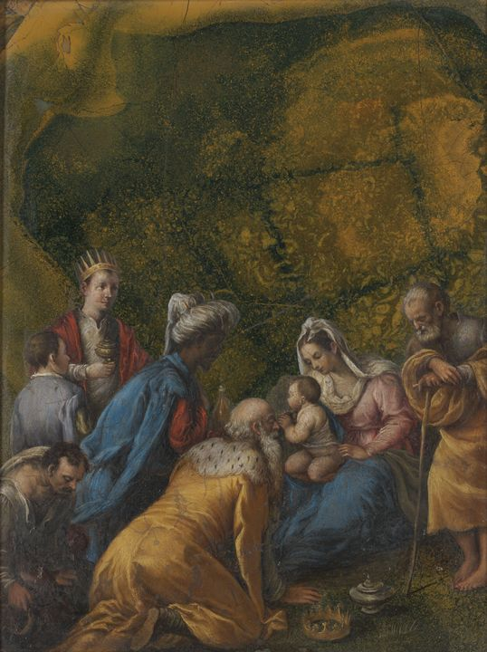 Jacopo Bassano~The Adoration of the - Classical art