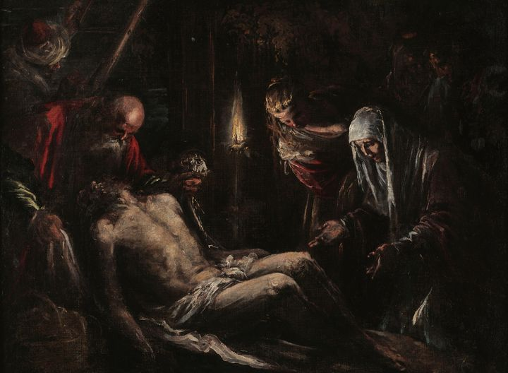 Jacopo Bassano~The Entombment of Chr - Classical art