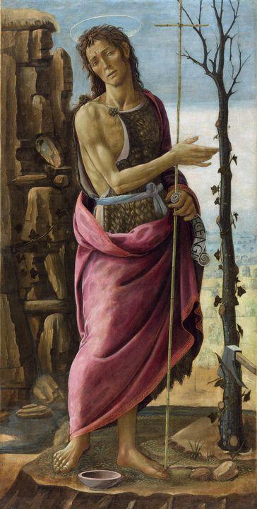 Jacopo da Sellaio~Saint John the Bap - Classical art