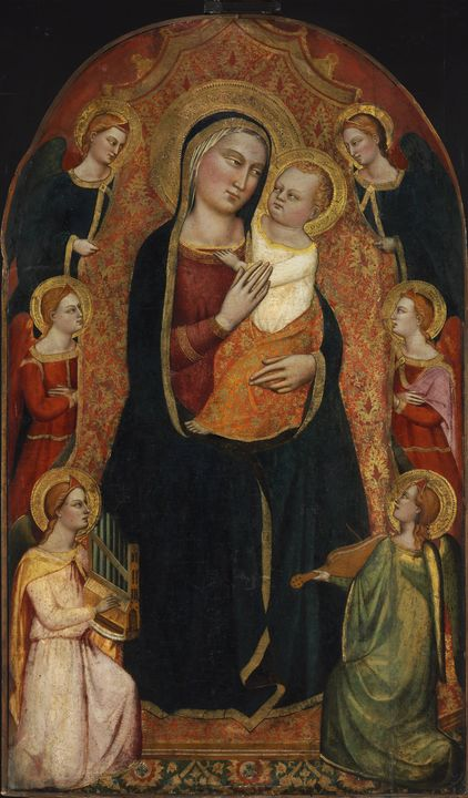 Jacopo di Cione~Madonna and Child En - Classical art