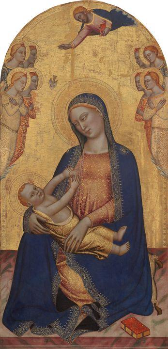 Jacopo di Cione~Madonna and Child wi - Classical art