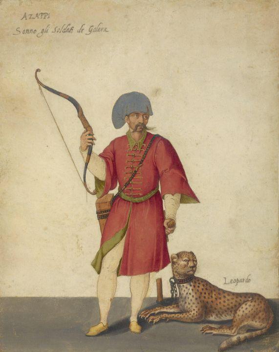Jacopo Ligozzi~An Azappo Archer with - Classical art