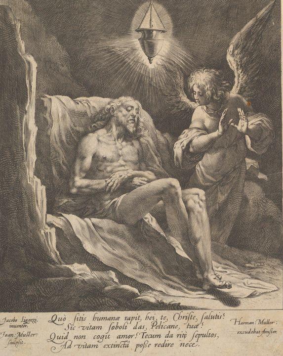 Jacopo Ligozzi~Dead Christ Lamented - Classical art