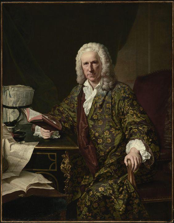 Jacques Aved~Portrait of Marc de Vil - Classical art
