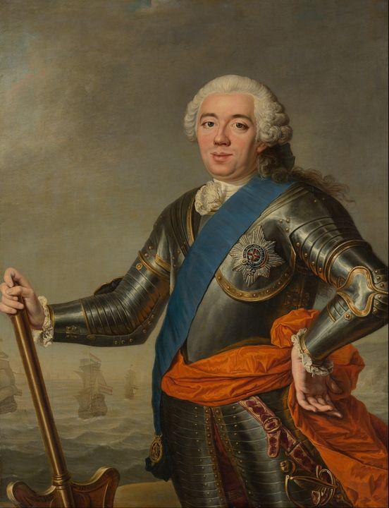 Jacques Aved~Posthumous Portrait of - Classical art
