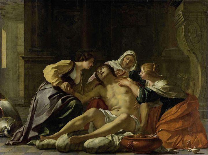Jacques Blanchard~St Sebastian Nurse - Classical art