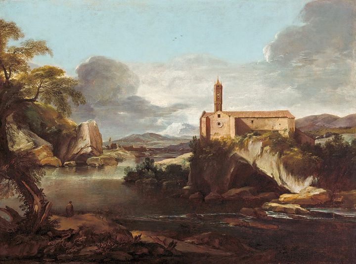 Jacques Courtois~Rocky valley - Classical art