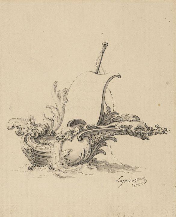 Jacques de Lajoue~Design for an Escu - Classical art