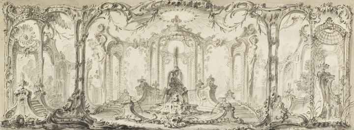 Jacques de Lajoue~Design for an Orna - Classical art