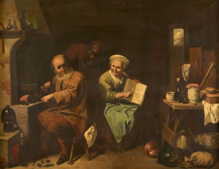 Jacques Hammerer~The Alchemist and H - Classical art