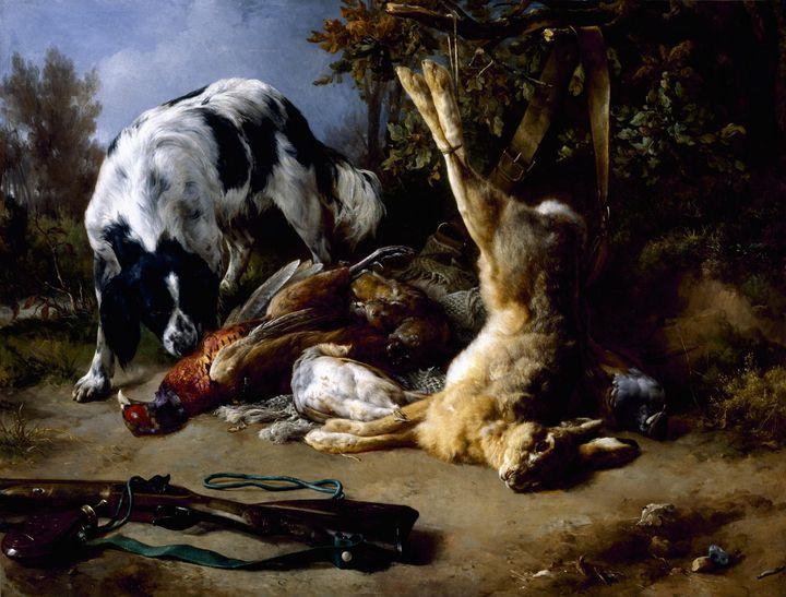 Jacques Raymond Brascassat~Spaniel w - Classical art