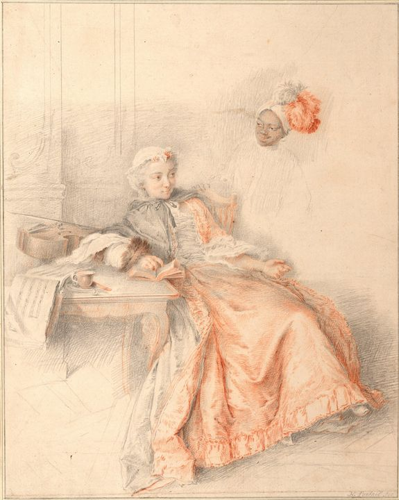 Jacques-André Portail~Young Lady Rea - Classical art