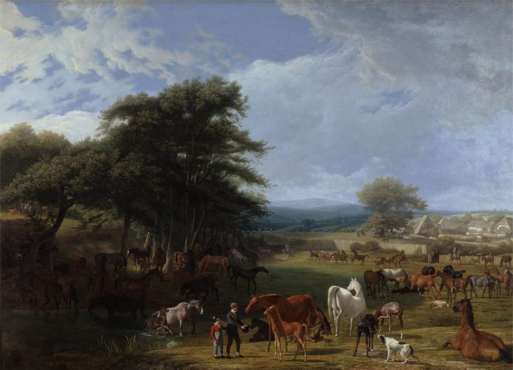 Jacques-Laurent Agasse~Lord Rivers's - Classical art