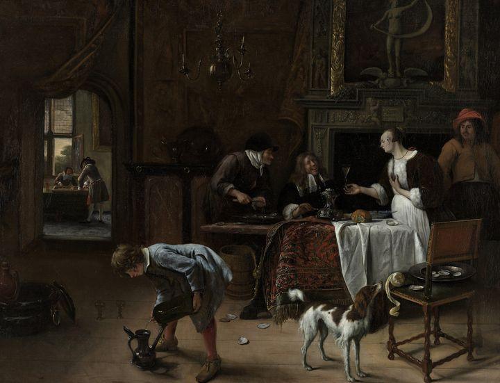 Jan Steen~Easy come, easy go - Classical art