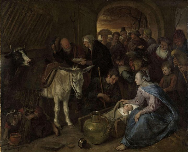 Jan Steen~The adoration of the sheph - Classical art