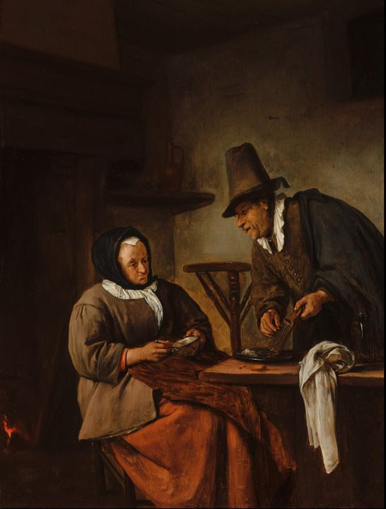 Jan Steen~The Caudle Makers' - Classical art