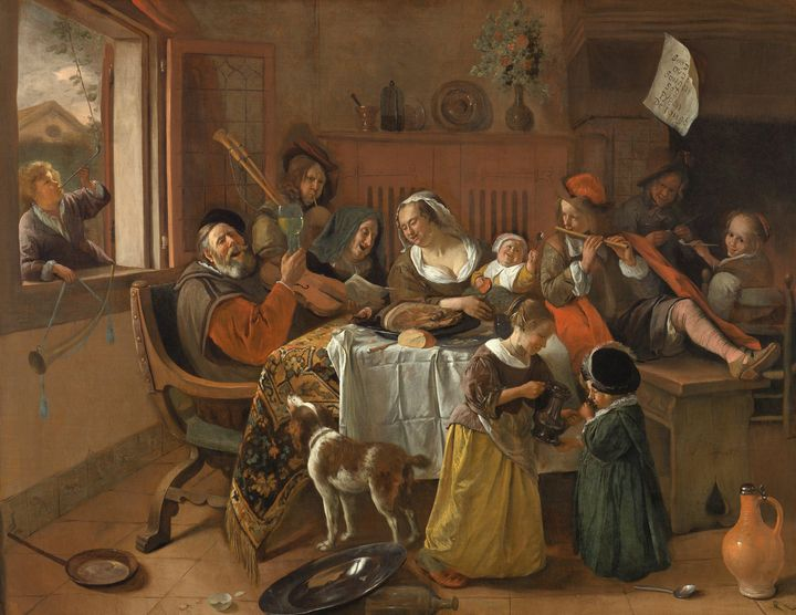 Jan Steen~The Merry Family - Classical art