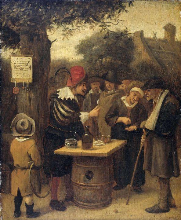 Jan Steen~The quack - Classical art