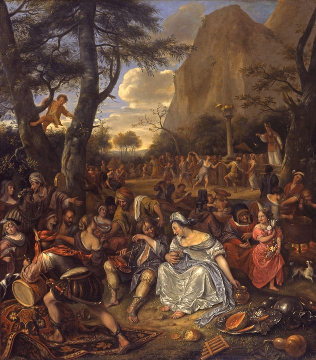 Jan Steen~The Worship of the Golden - Classical art
