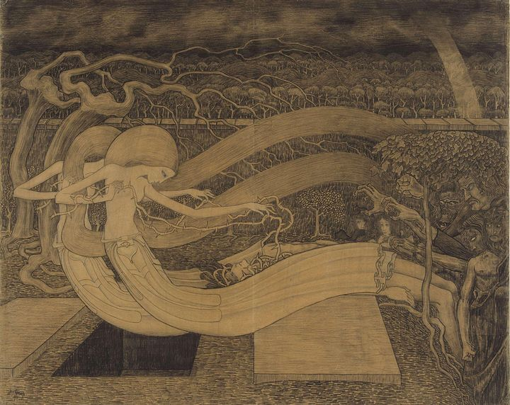 Jan Toorop~O Grave, where is thy Vic - Classical art