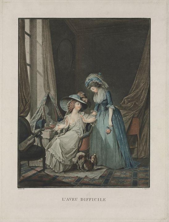 Jean-François Janinet~L'Aveu Diffici - Classical art