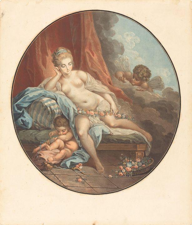 Jean-François Janinet~Venus en refle - Classical art