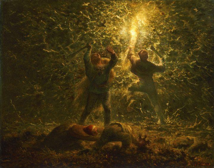 Jean-François Millet~Bird's-Nesters - Classical art