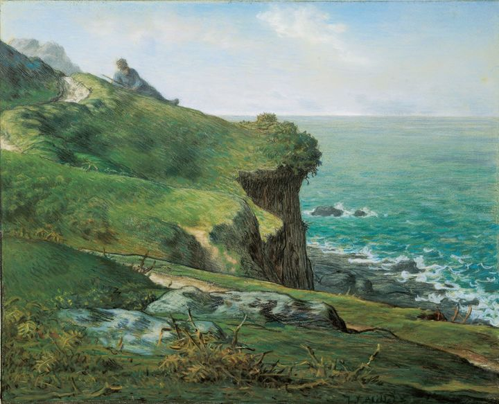 Jean-François Millet~Cliffs of Grévi - Classical art