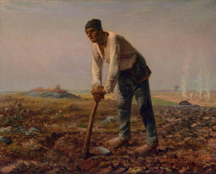 Jean-François Millet~Man with a Hoe - Classical art