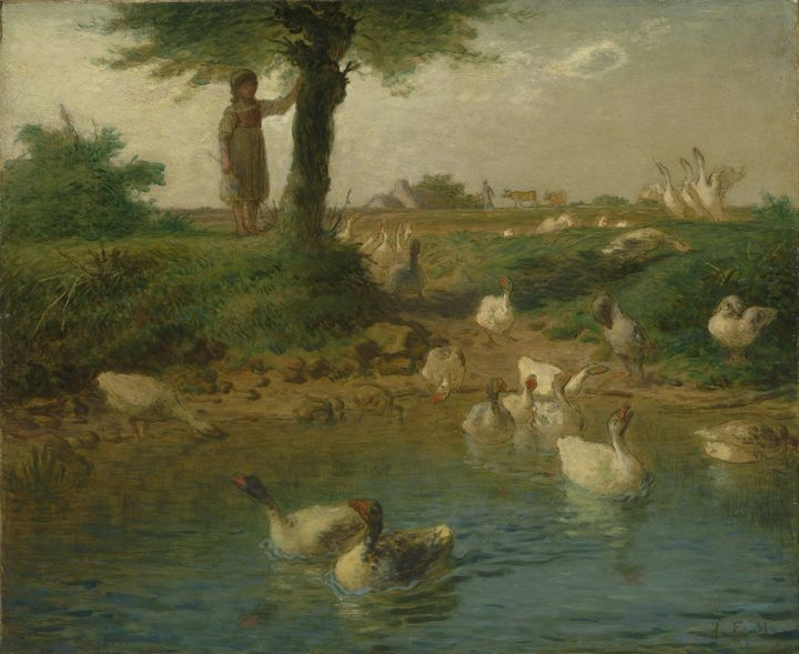 Jean-François Millet~The Goosegirl - Classical art