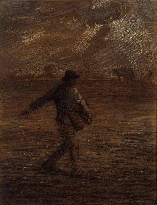 Jean-François Millet~The Sower - Classical art