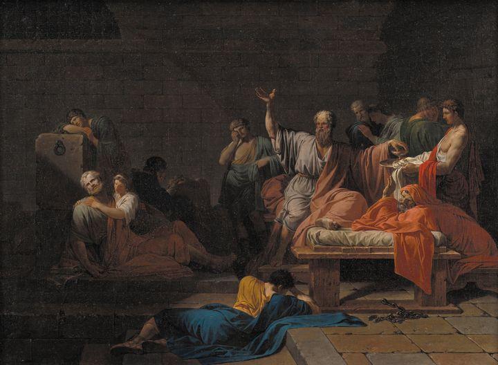 Jean-François Pierre Peyron~The Deat - Classical art