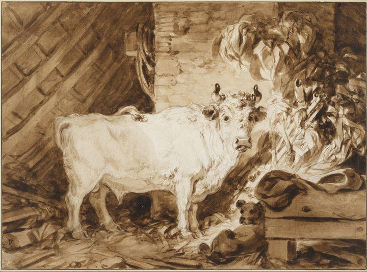 Jean-Honore Flagonar~White Bull and - Classical art
