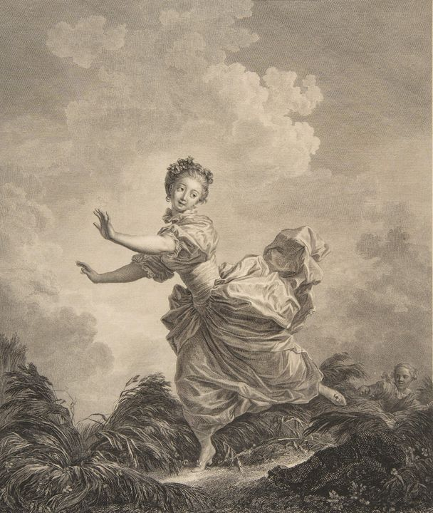 Jean-Honoré Fragonard~La Fuite a Des - Classical art