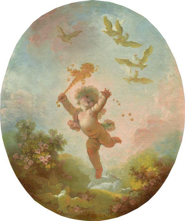 Jean-Honoré Fragonard~Love as Folly - Classical art