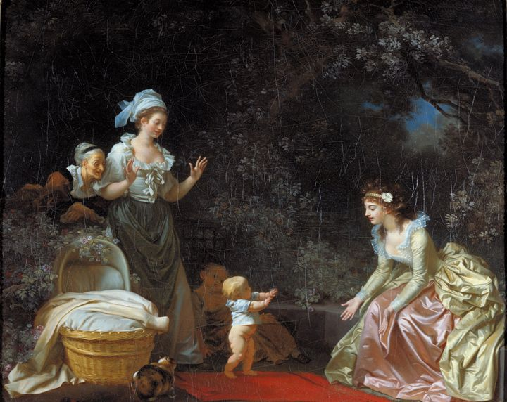 Jean-Honoré Fragonard~The First Step - Classical art