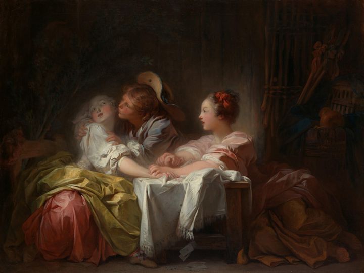 Jean-Honoré Fragonard~The Stolen Kis - Classical art