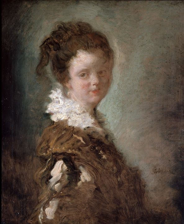 Jean-Honoré Fragonard~Young Woman - Classical art
