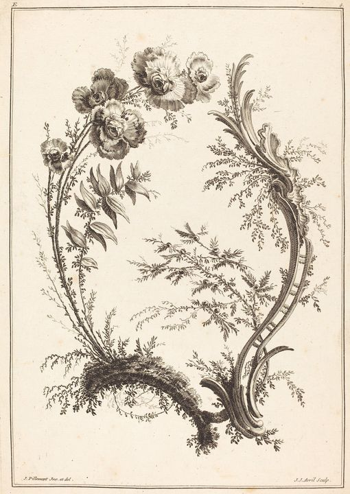 Jean-Jacques Avril~Ornament with Flo - Classical art