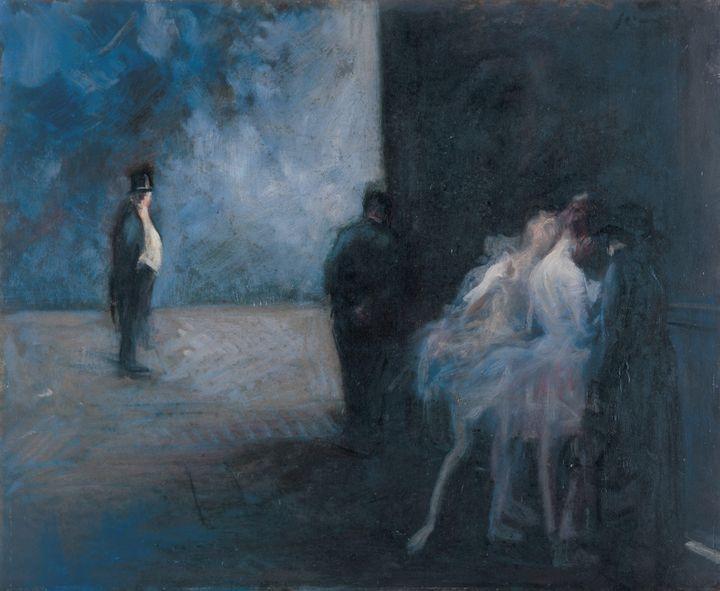 Jean-Louis Forain~Backstage―Symphony - Classical art