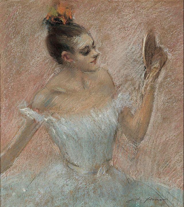 Jean-Louis Forain~Dancer with a Mirr - Classical art