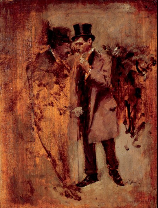 Jean-Louis Forain~In Front of the St - Classical art