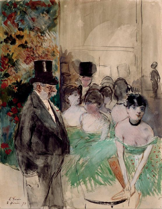 Jean-Louis Forain~Intermission. On S - Classical art