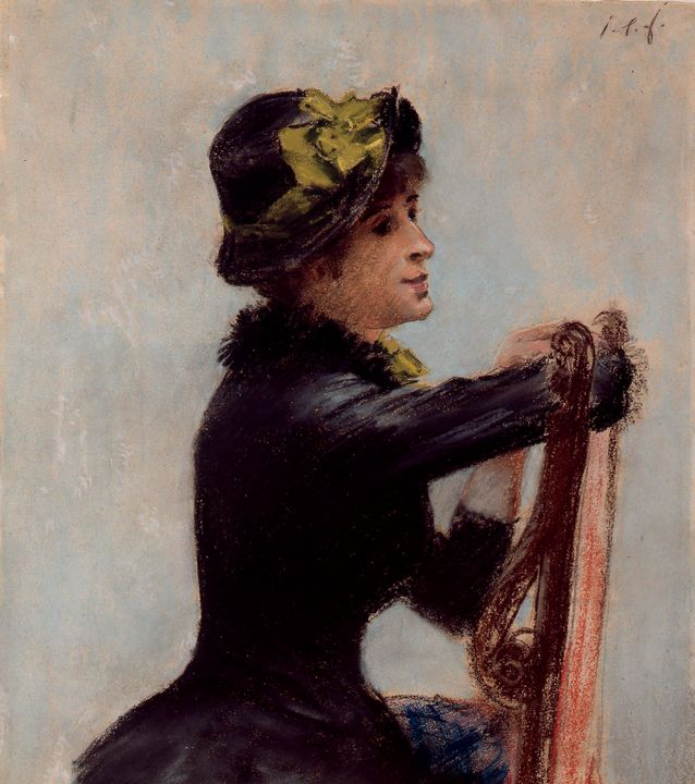 Jean-Louis Forain~Young Woman with a - Classical art