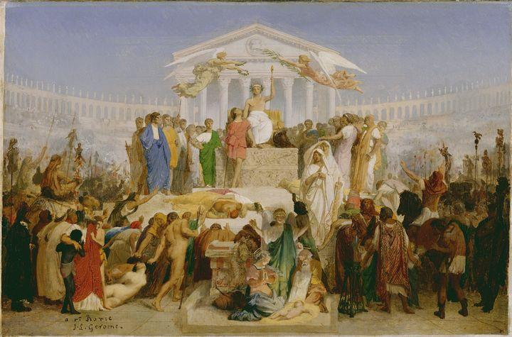 Jean-Léon Gérôme~The Age of Augustus - Classical art
