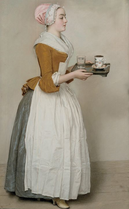 Jean-Étienne Liotard~The Chocolate G - Classical art