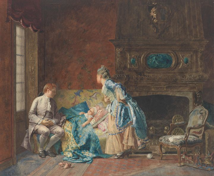 Jehan Georges Vibert~The First Babe - Classical art