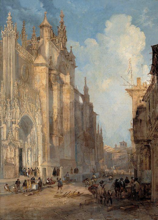 Jenaro Pérez Villaamil~Seville Cated - Classical art