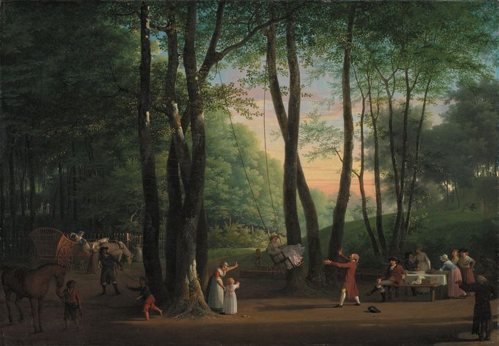 Jens Juel~The Dancing Glade at Sorge - Classical art